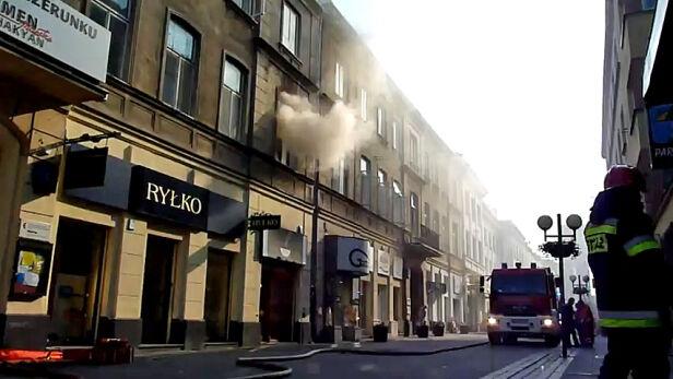 Pożar na Chmielnej Brushevsky /Kontakt 24