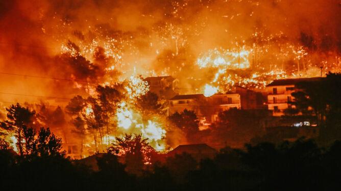 Chorwacja jak piekło. <br />Ranni, spłonęły tysiące hektarów lasu