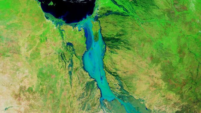 Zdjęcie satelitarne wykonane 10 lutego 2019 roku (NASA Earth Observatory, Joshua Stevens)