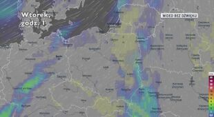 Prognozowane opady w ciągu najbliższych dni (Ventusky.com)